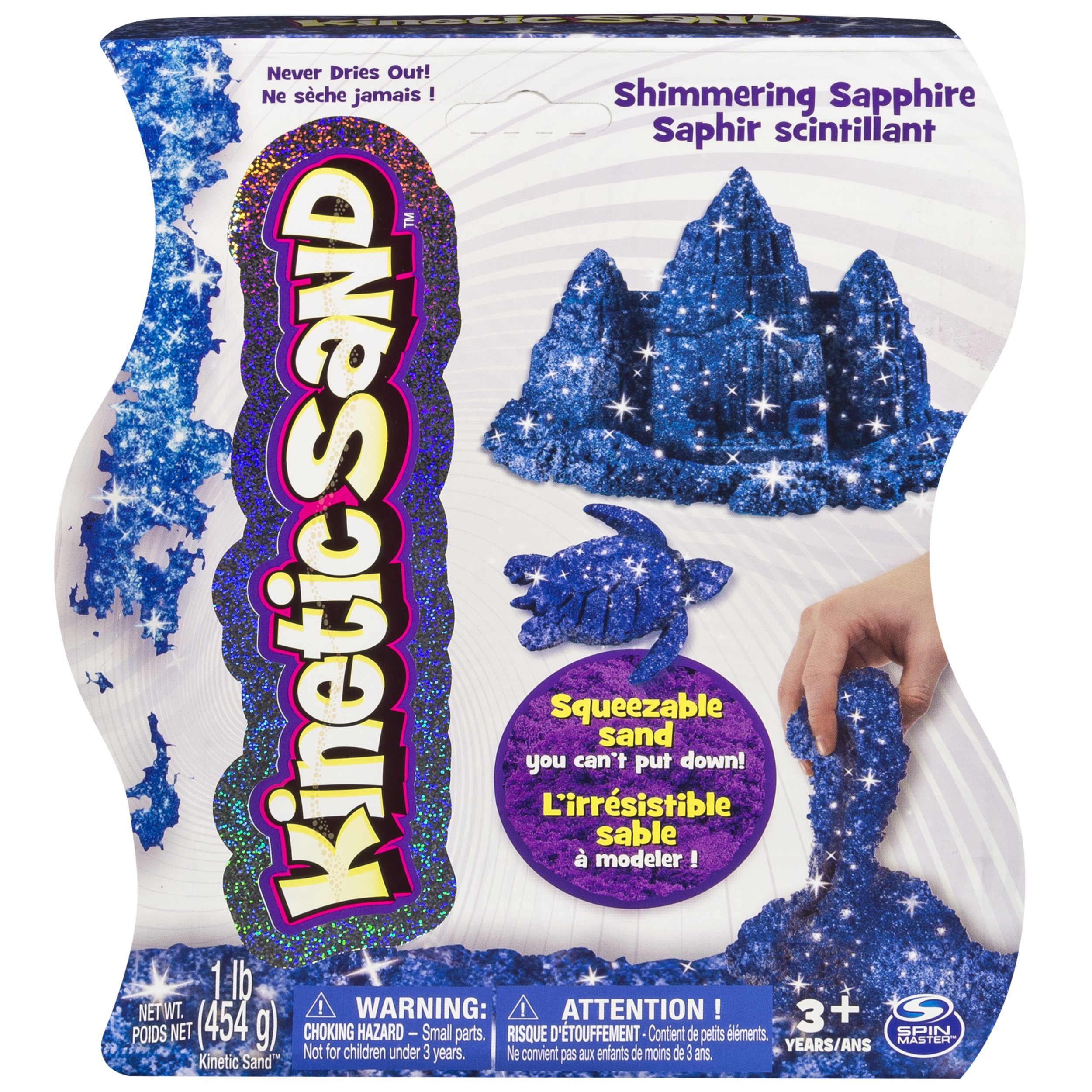 Kinetic Sand, 1Lb Shimmering Blue Sapphire Magic Sand for Ages 3 & Up by Kinetic Sand