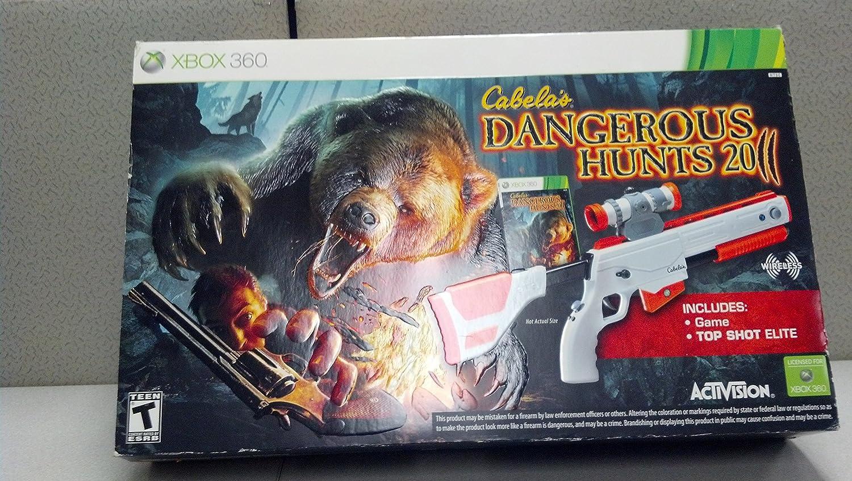 Activision Cabelas Dangerous Hunts 2011 w/Gun - Juego (Pistola): Amazon.es: Videojuegos