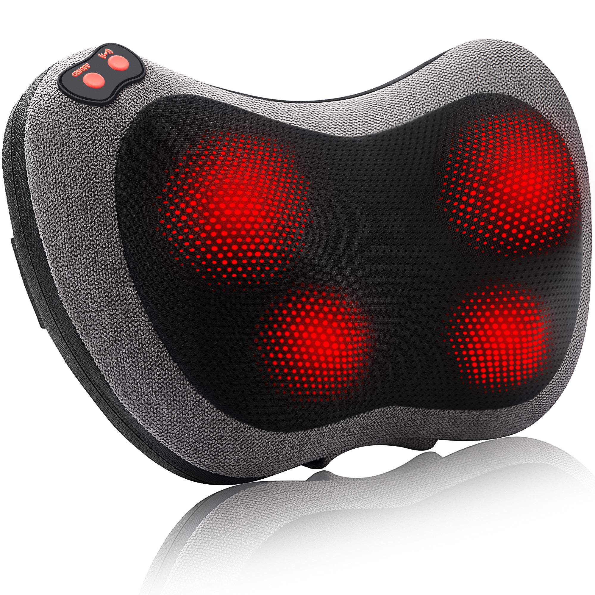Papillon Back Massager with Heat,Shiatsu Back and Neck Massager with Deep Tissue Kneading,Electric Back Massage Pillow for Back,Neck,Shoulders,Legs, Foot,Body Muscle Pain Relief,Use at Home,Car,Office by Papillon