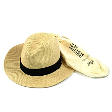 95a741eaaff Black Ginger Folding Panama Hat. Straw Trilby Fedora Style That can be  Folded into