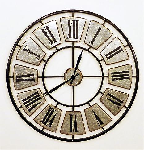 Générique Horloge En Métal Style Industriel Façon Zinc Diam 78cm