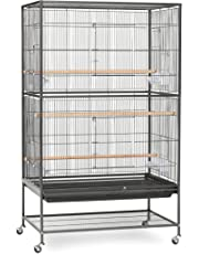 "Prevue Hendryx F040 Pet Products Wrought Iron Flight Cage with Stand Black Bird Cage, 31"" by 20-1/2"" by 53"""
