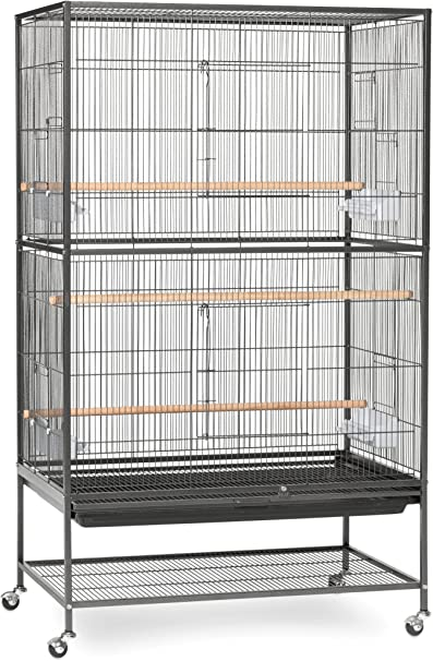 Prevue Pet Products Wrought Iron Flight Cage With Stand F040 Black Bird Cage 31 Inch By 20 1 2 Inch By 53 Inch Birdcages Pet Supplies