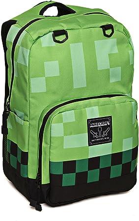 b9fbada22 Con licencia oficial | Minecraft Creeper Mochila | gran Mine Craft Bolsa la  escuela mochila Multicolor Creeper: Amazon.es: Equipaje