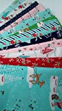 PIXIE NOEL Tasha Noel Christmas Fabric 13 Fat Quarters Bundle Riley Blake Cotton Fabric ~ 3.25 yards