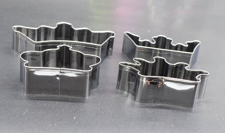 Ausstecher-Set von 4, Krone Form Schere Edelstahl Ausstechformen ...