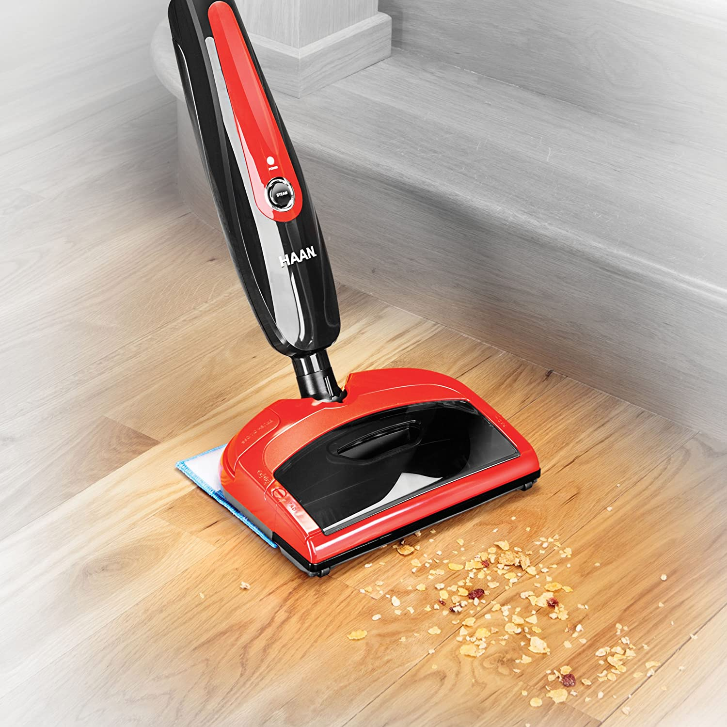 carpet steamer. amazon.com - haan hd-60 duo sweeper and floor steamer carpet steam cleaners t
