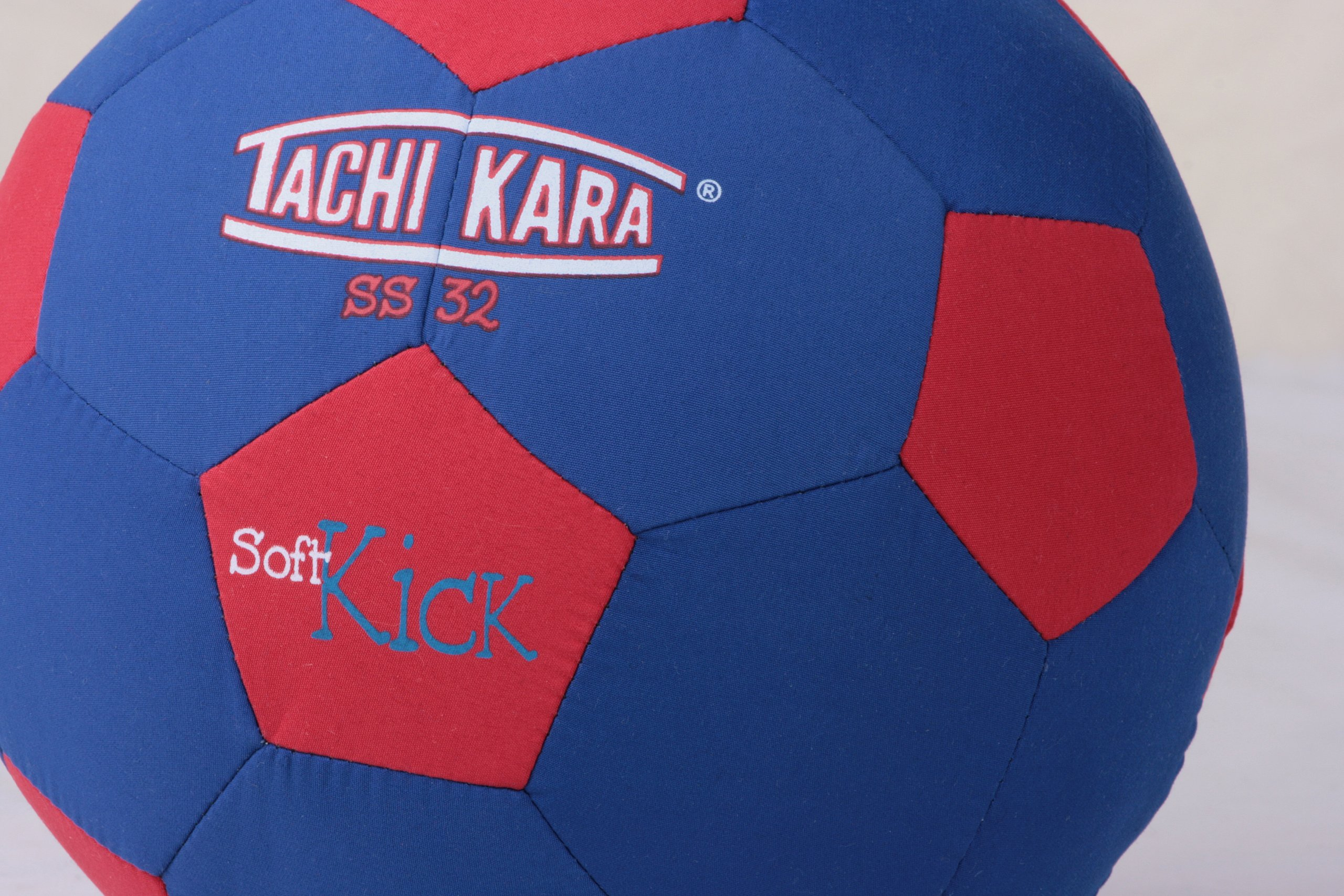Tachikara SS32 Soft Kick Fabric Soccer Ball, Blue/Red by Tachikara