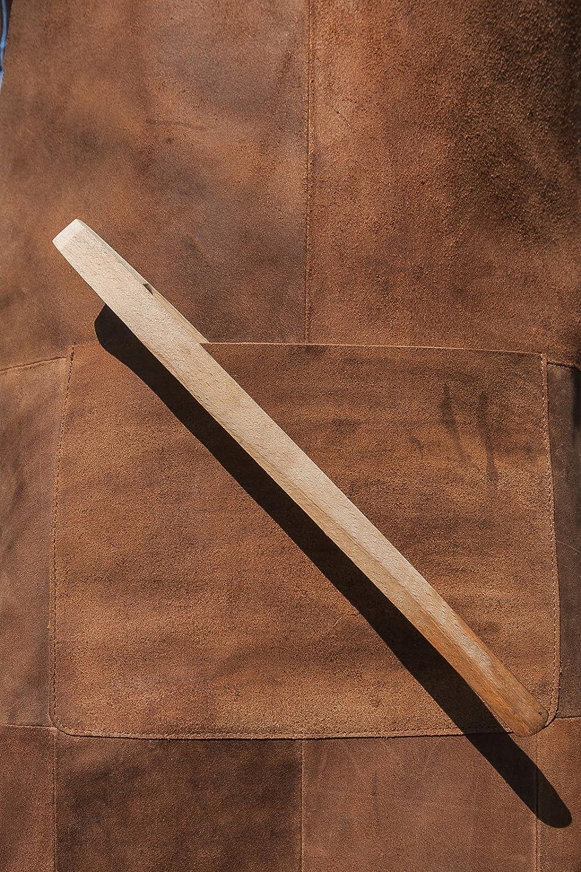 Premium Michael Heinen piel Delantal de grasa y chispas Protecci/ón Barbacoa Braun 1 | Delantal Camarero B/úfalo WIDL piel Barbeque Delantal de calor