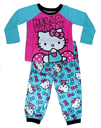 1f61a3b33 Amazon.com  Hello Kitty Little Girls  Fleece Pajama Set  Clothing