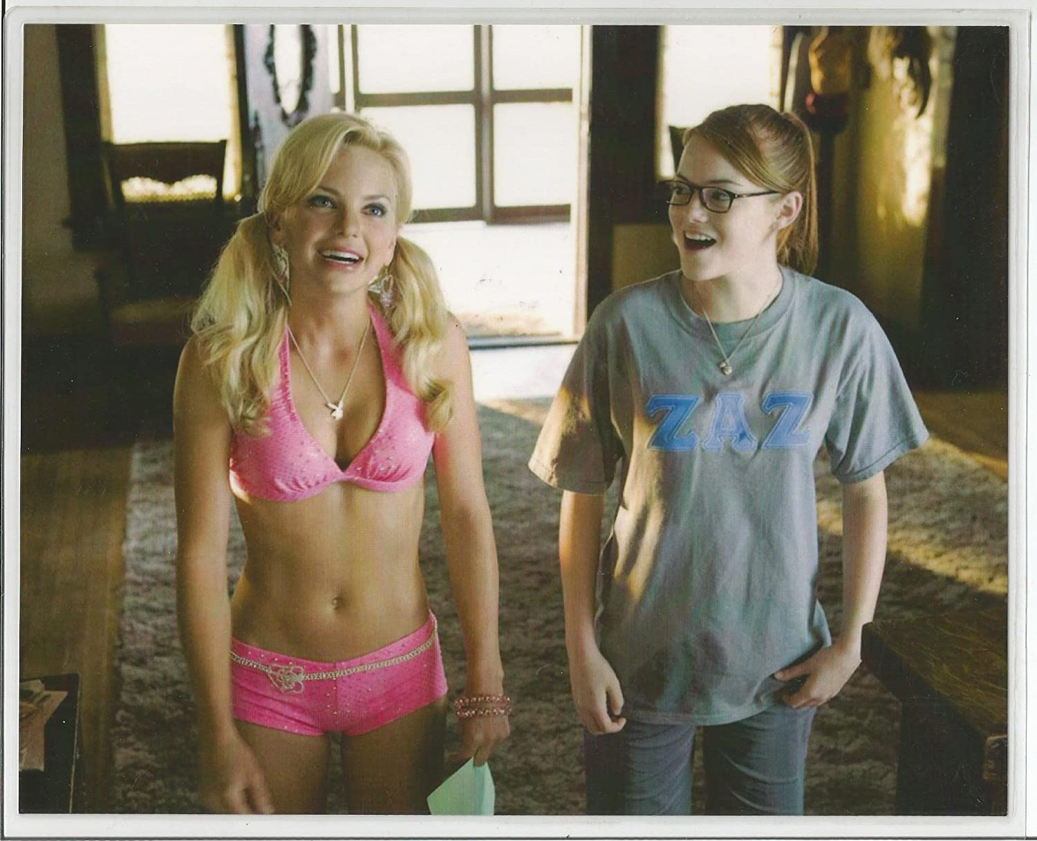 Magnificent The House Bunny Anna Faris And Emma Stone 8 X 10 Laminated Beutiful Home Inspiration Ommitmahrainfo