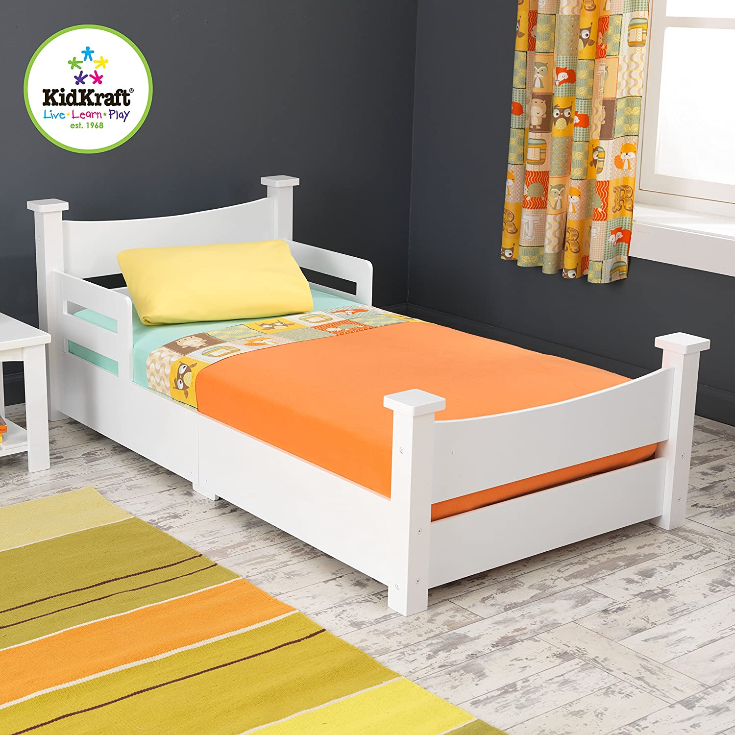 Amazon KidKraft Addison Toddler Bed White Toys Games
