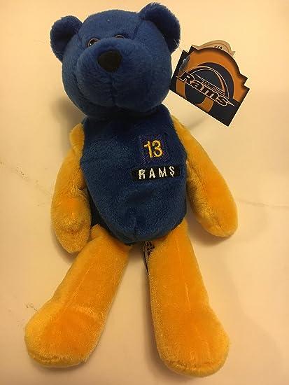 amazon com kurt warner 13 st louis rams edicion limitada azul oso de felpa de limitada tesoros pro puf raro nfl coleccionable de peluche toys games kurt warner 13 st louis rams