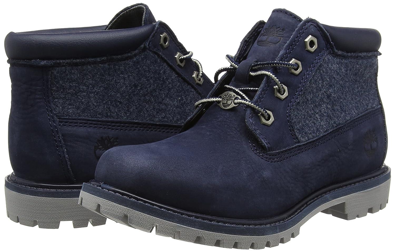 Timberland Damen Nellie Double FL Chukka Boots, Blau (Dark Urban Chic Barefoot Buffed Nubuck), 37.5 EU
