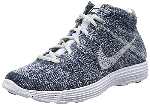 9188e8d89bf8 Nike Lunar Flyknit Chukka - Squadron Blue Pure Platinum-Obsidian-White Size  7