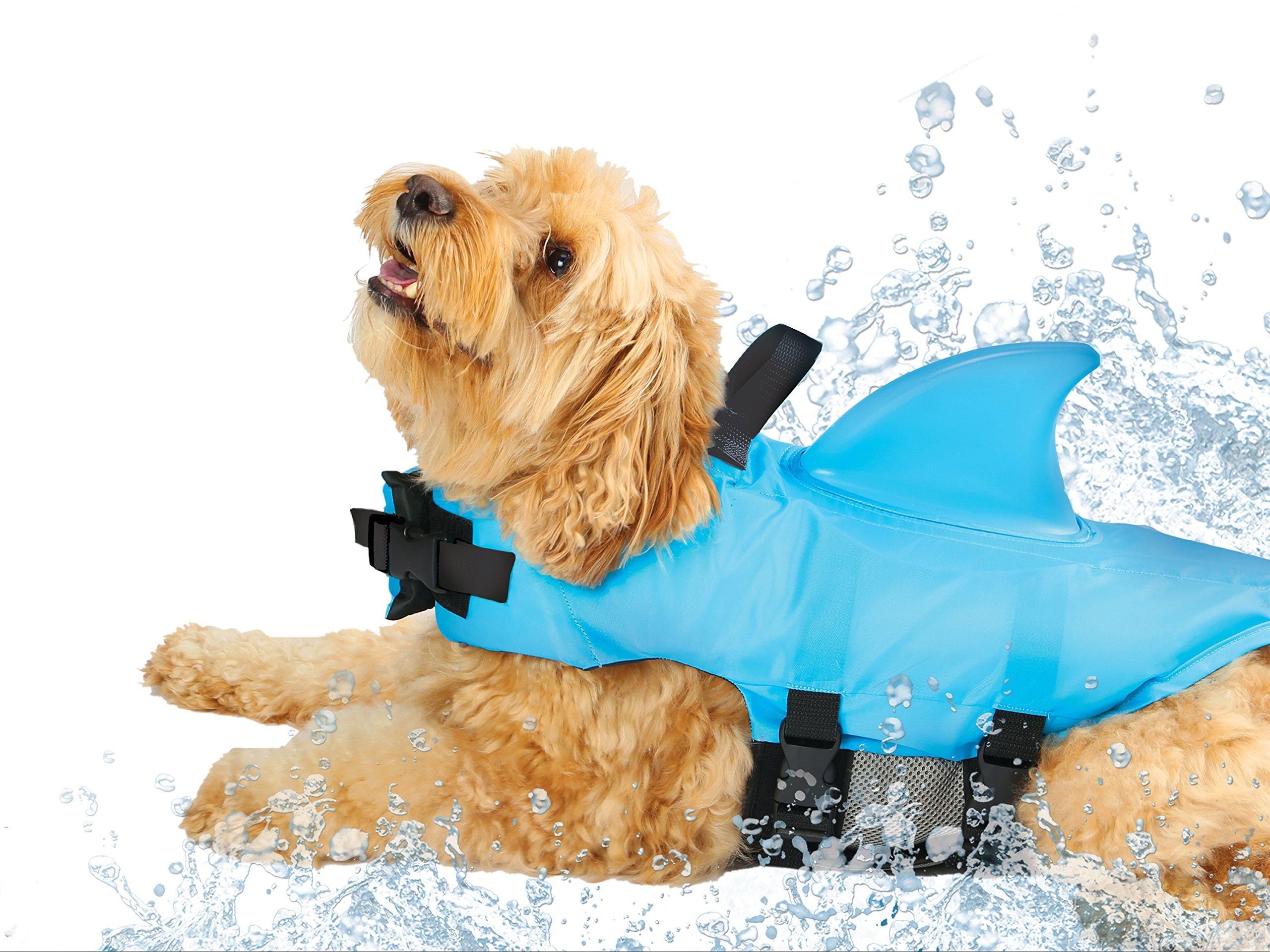 SwimWays Sea Squirts Doggie Jacket Blue Medium by SwimWays
