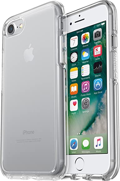 amazon com otterbox symmetry clear series case for iphone se 2nd gen 2020 and iphone 8 7 not plus frustration free packaging clear clear clear otterbox symmetry clear series case for iphone se 2nd gen 2020 and iphone 8 7 not plus frustration free packaging clear clear clear