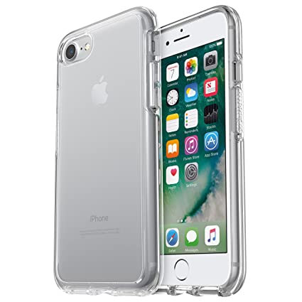 online retailer f3ab5 97f80 OtterBox Symmetry Clear Series Case for iPhone 8 & iPhone 7 (NOT Plus) -  Frustration Free Packaging - Clear