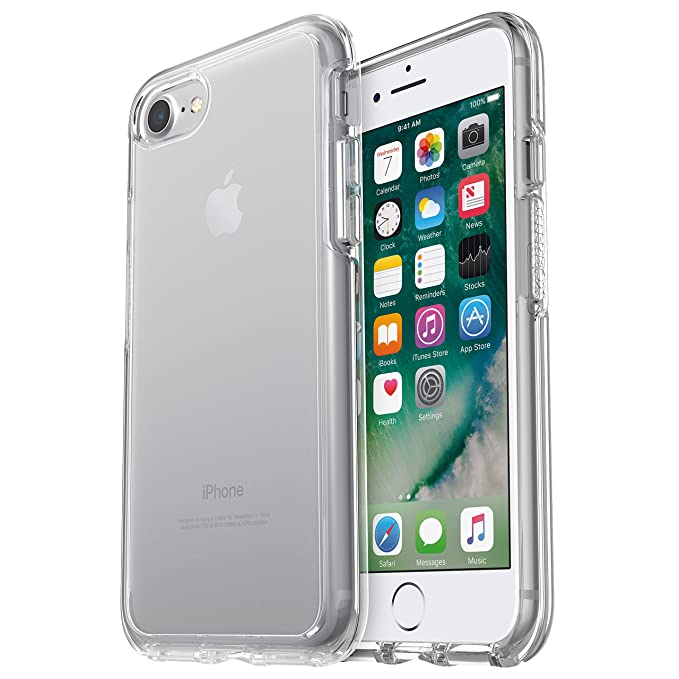 timeless design c53dc bce5b OtterBox SYMMETRY CLEAR SERIES Case for iPhone 8 & iPhone 7 (NOT Plus) -  Frustration Free Packaging - CLEAR (CLEAR/CLEAR)