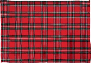 C&F Home Arlington Plaid 13'' x 19'' Placemat Set of 6 Checkered Cotton Lodge Rustic Table Mat for Kitchen Dining Table Placemat Set of 6 Red