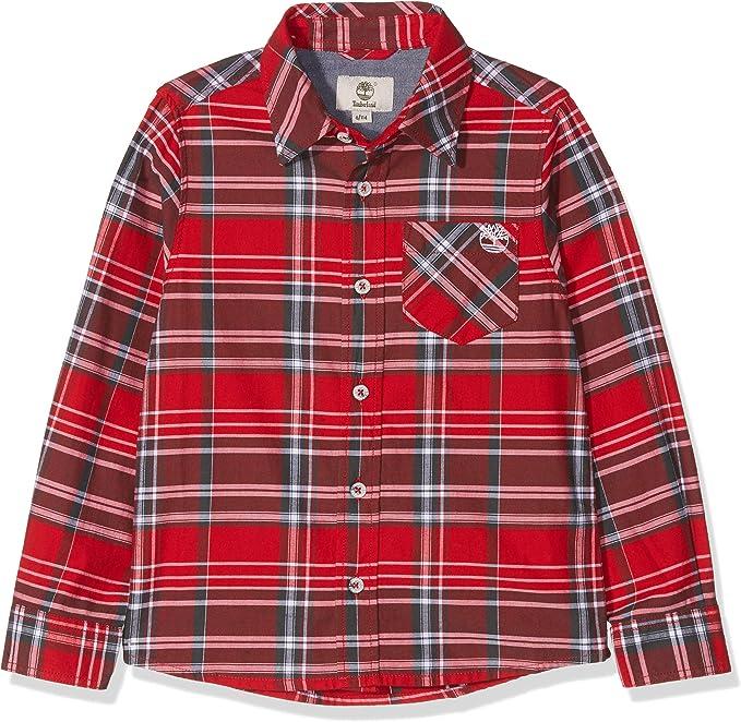 Timberland Chemise Manches Longues Camisa para Niños: Amazon.es: Ropa y accesorios