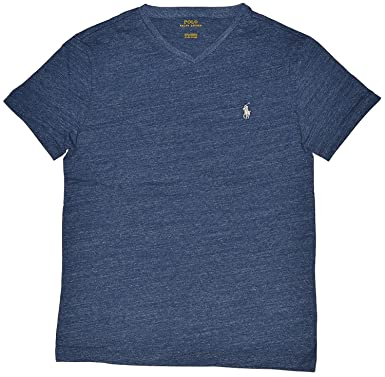 Polo Ralph Lauren Men\u0027s Classic Fit V-Neck T-Shirt (Small, Gentian
