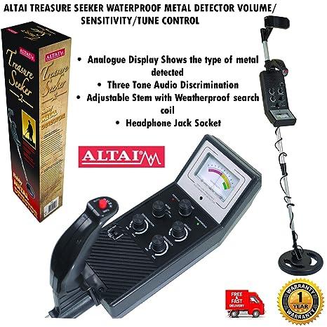 Altai – Detector de metales resistente al agua volumen/Control de sensibilidad/Tune