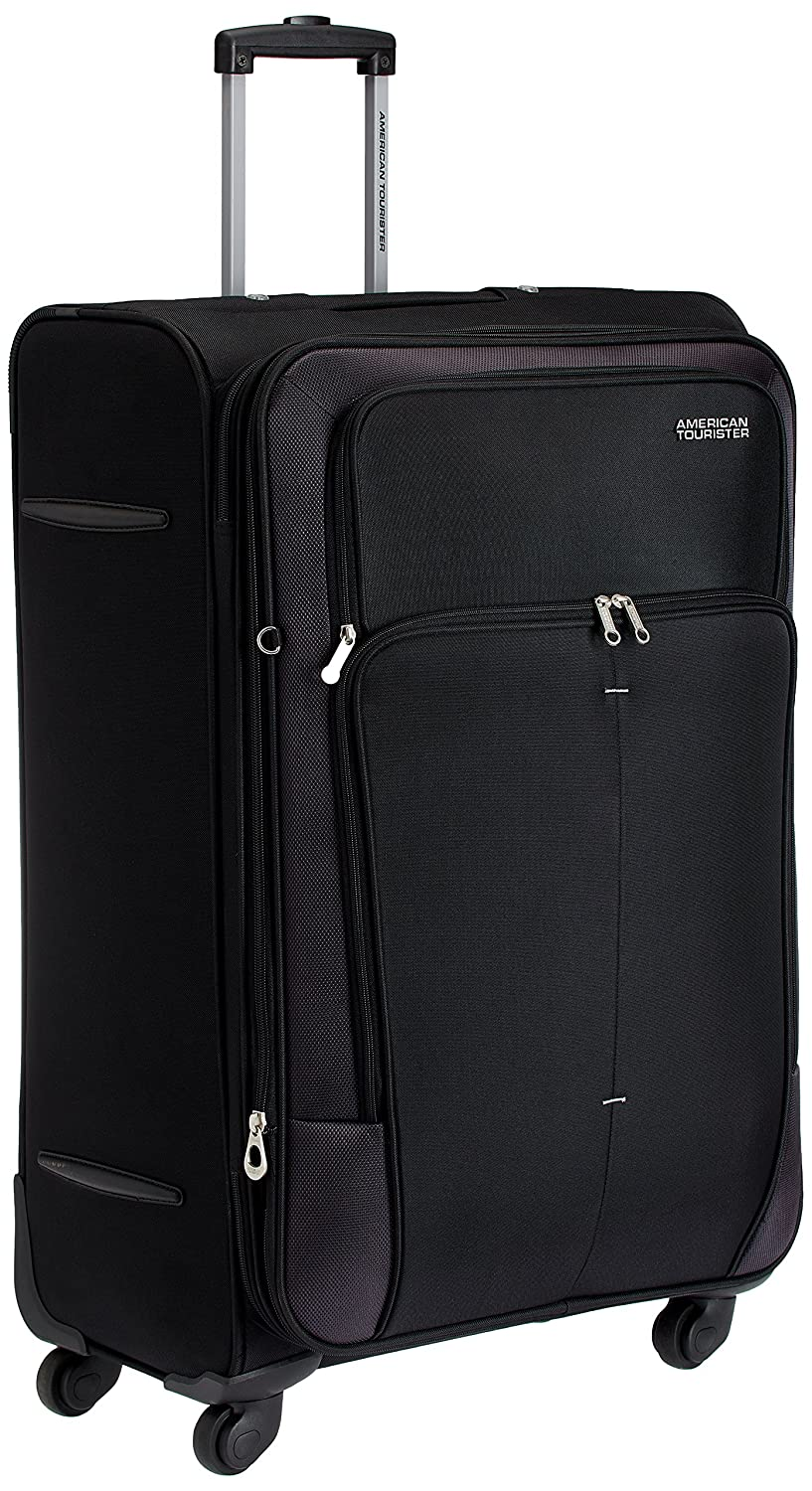 6fbc5783901e American Tourister Crete Polyester 77 cms Black Softsided Check-in Luggage  (49W (0) 09 003)