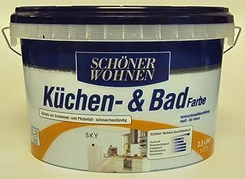 2,5 L Schöner Wohnen Küchen  U. Badfarbe, Sky Matt