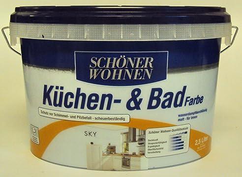 2,5 L Schöner Wohnen Küchen- u. Badfarbe, Sky Matt: Amazon.de ...