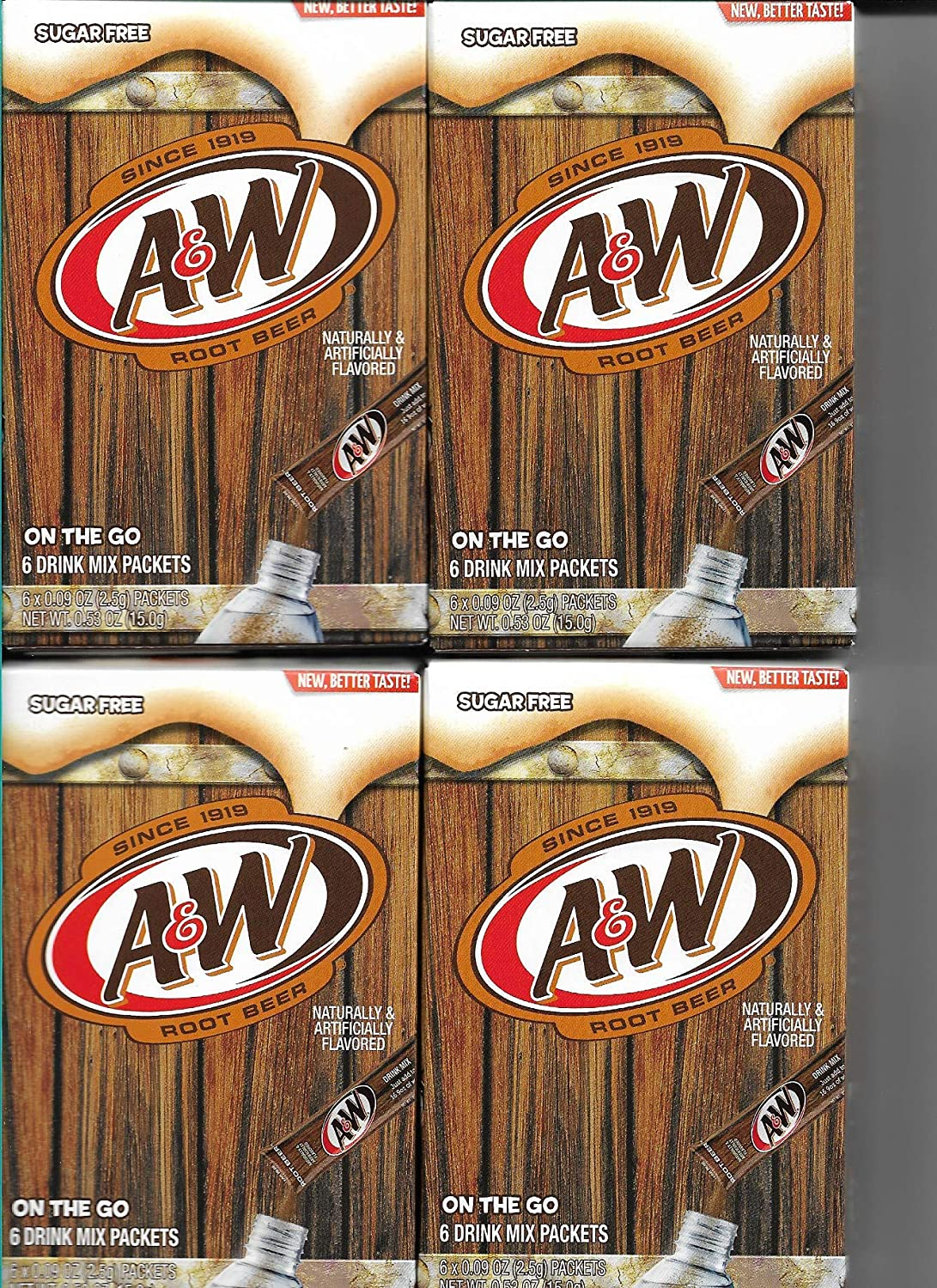 A&W Root Beer Sugar Free Singles To go Drink Mix by A&W