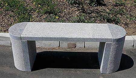 Granitbank Steinbank Gartenbank Ravensburg Hell Grauer Granit Gerade 120cm Amazon De Garten