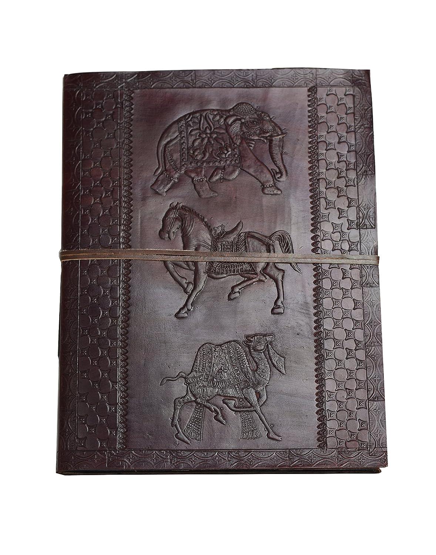 Edad de oro  Visitas XXL Diario Libro Visitas  Cuero del Búfalo NUEVO TIPO DE PAPEL Hecho a Mano India 46f39e