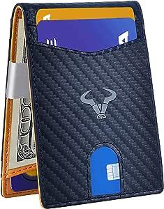 "Cartera Hombre,BULLIANT Billetera Hombre Crédito Tarjetas,13 Cartas 3""x4.3"",Bolsillo para Monedas RFID Bloqueo,Regalo en Caja"