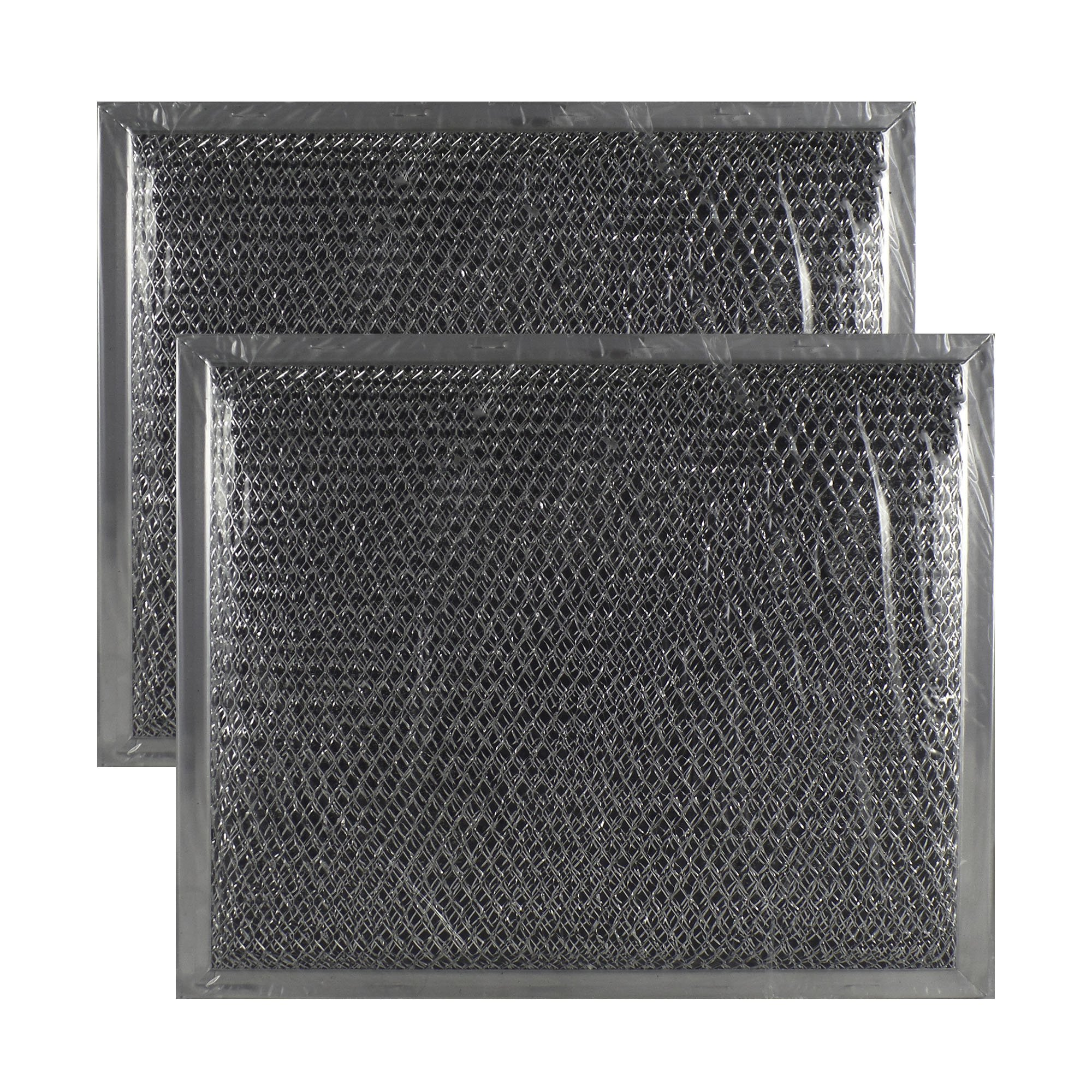 2-PACK Air Filter Factory Compatible Replacement For GE WB02X10700 Aluminum Mesh Combo Charcoal Filter