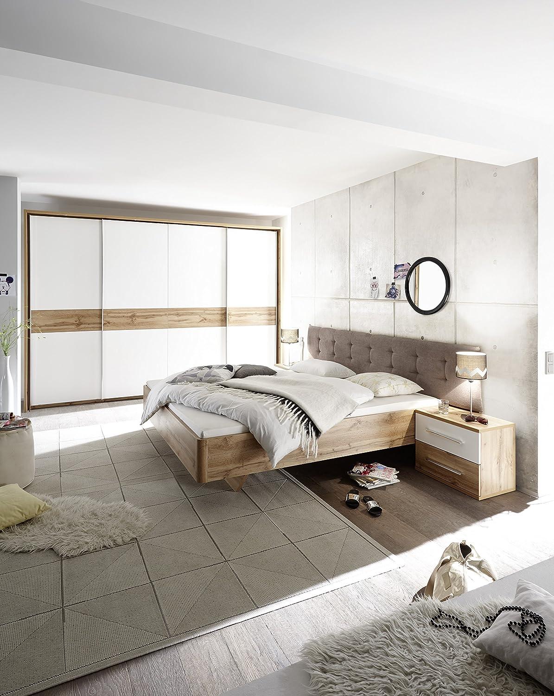 Schlafzimmer Komplett Set 4 tlg BERGAMO Bett 180