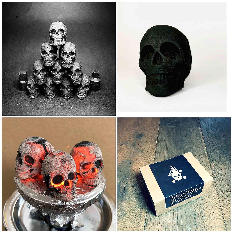 30 carbón design de calavera, craneo para shisha, cachimba : Skullforshisha