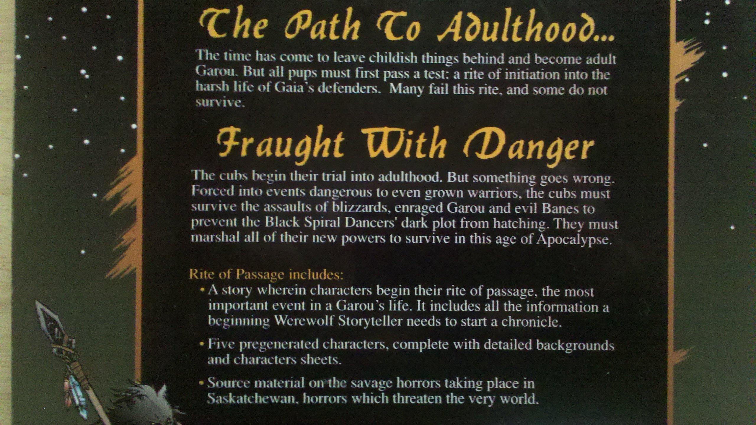 Rite of Passage (Werewolf: The Apocalypse): Amazon com: Books
