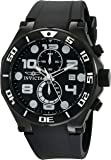 Invicta Men's Pro Diver Quartz Watch with Black Dial Chronograph Display and Black PU Strap 15397