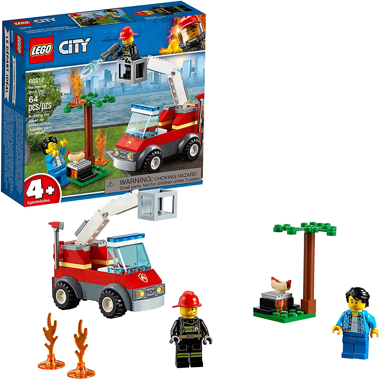 LEGO City Barbecue Burn Out 60212 Building Kit (64 Pieces)