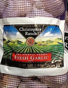 3 Pounds Fresh Garlic USA California Grown Gilroy Finest (Pack of 2)