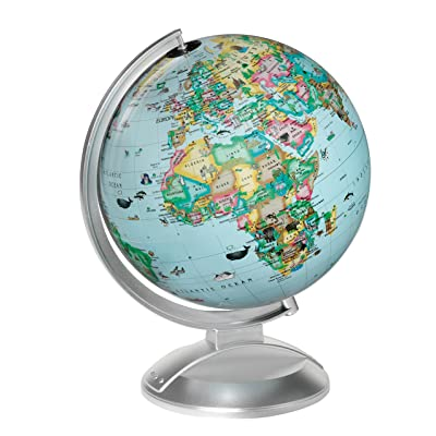 Replogle Illuminated Blue Ocean Globe 4 Kids, Kid Friendly Political Map, Dual Map, Educational Toy: Toys & Games