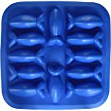 Fairly Odd Novelties Novelty Gag Gift Fish Shapes Flexible 12-Ice Cube Tray Mold, Rubber, Blue