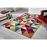 Spectrum Samba - Tapis de créateur/tapis moderne - motif abstrait - multicolore 80 x 150cm