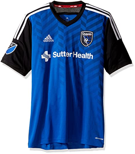 new arrivals 08c4b 1a9e1 adidas MLS San Jose Earthquakes Men's Replica Short Sleeve Jersey