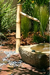 Bamboo Accents Tall Water Fountain Spout 36 Tall Kit Includes Submersible Pump For Easy