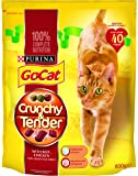 Go-Cat Crunchy and Tender Adult Dry Cat Food with Beef, Chicken and Vegetables, 800 g - Pack of 4
