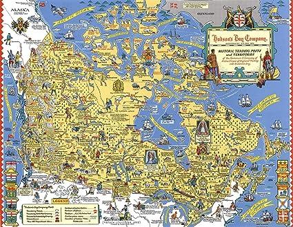 Amazon com: Historic Map | Hudson's Bay Company : Historic