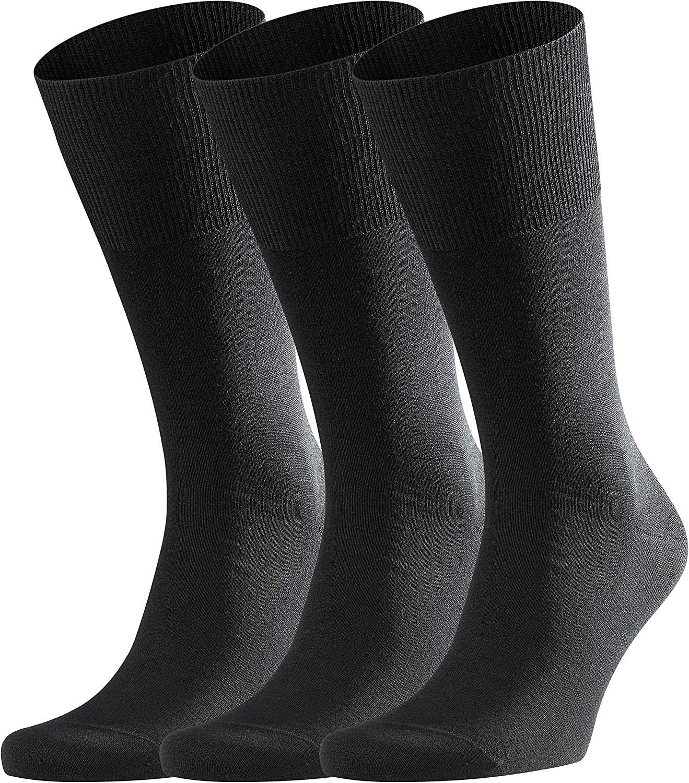 FALKE Herren Socken Airport 3-Pack - Merinowoll-/Baumwollmischung - Falke Socken