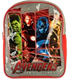 New Boys/Childrens Blue/Red Marvel Avengers Zip Fasten Backpack - Red/White/Multi - UK SIZES 1-1